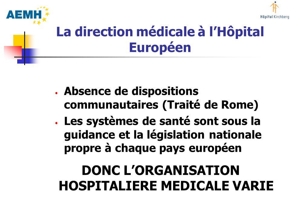 La direction médicale à l'Hôpital Européen