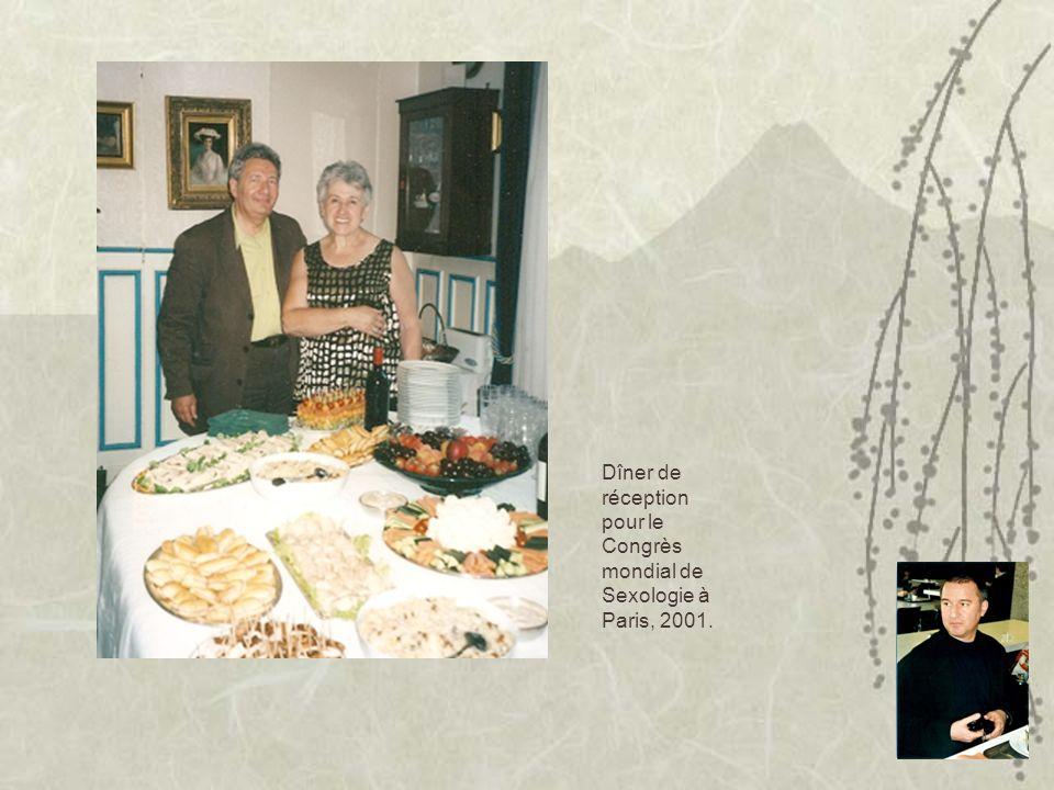 Dîner de réception pour le Congrès mondial de Sexologie à Paris, 2001.