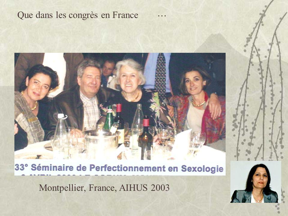 Que dans les congrès en France