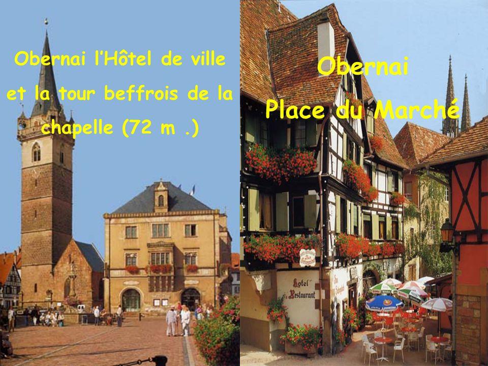 Obernai l'Hôtel de ville et la tour beffrois de la