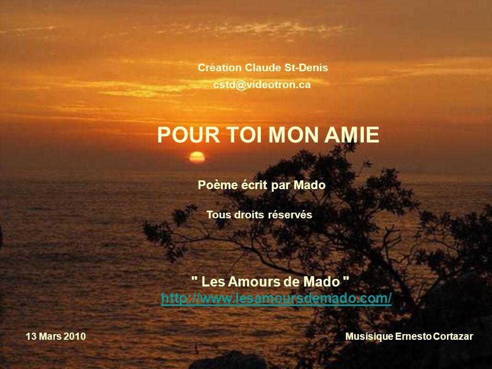 POUR TOI MON AMIE Les Amours de Mado