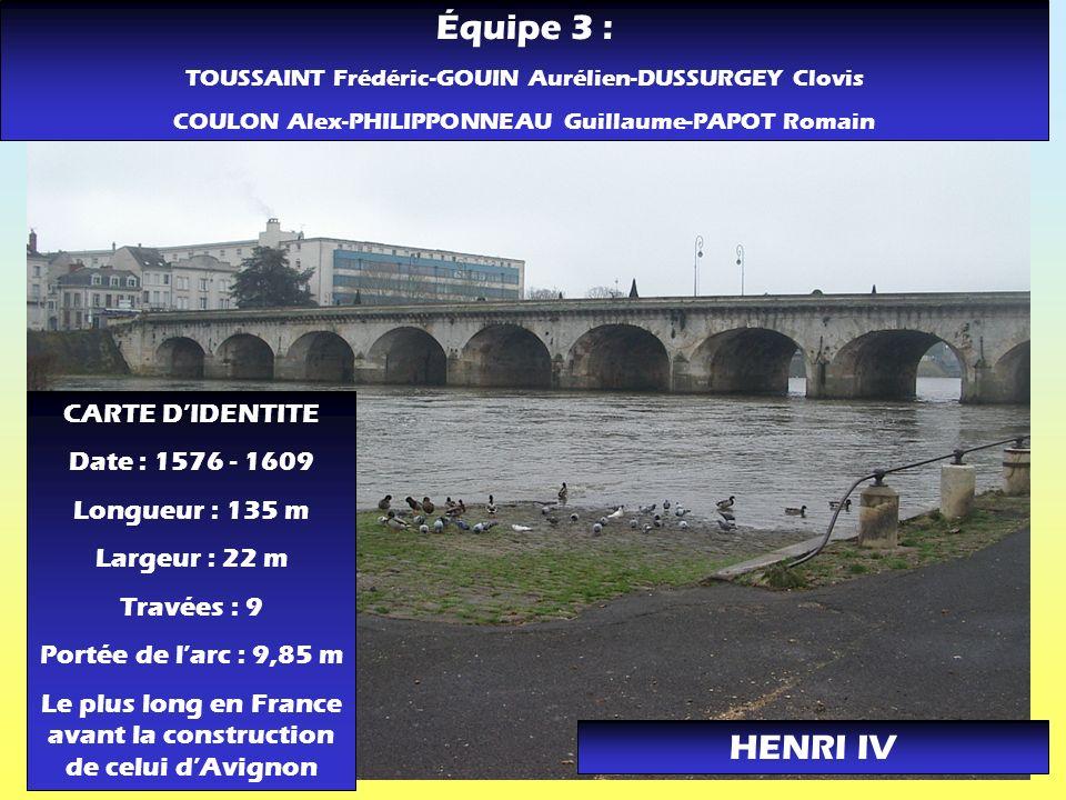 Équipe 3 : HENRI IV CARTE D'IDENTITE Date : 1576 - 1609