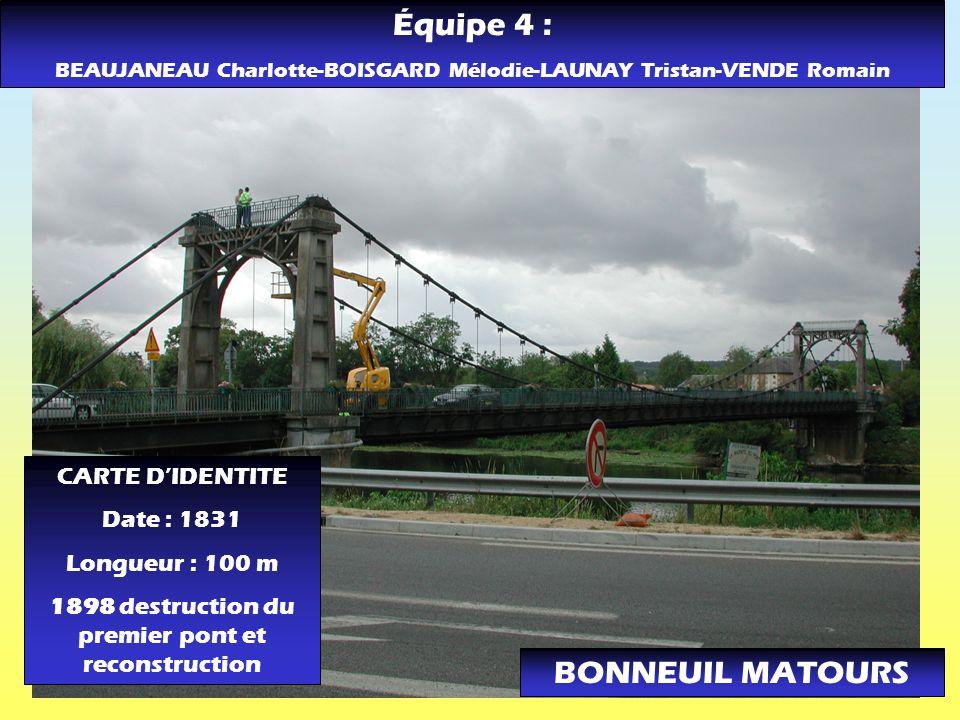 Équipe 4 : BONNEUIL MATOURS CARTE D'IDENTITE Date : 1831