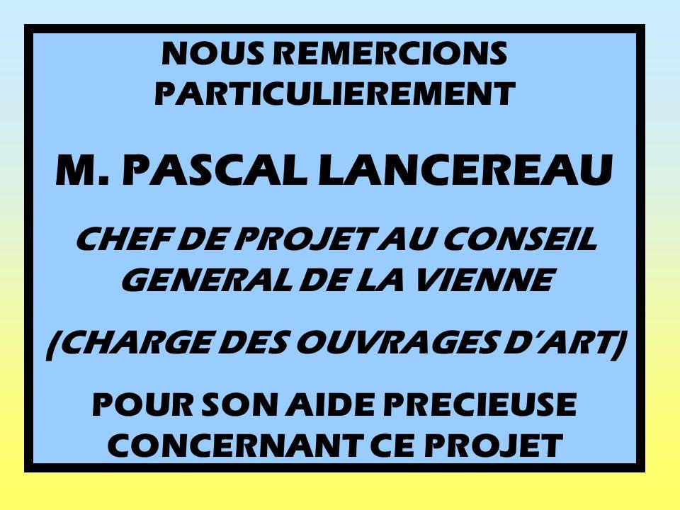 M. PASCAL LANCEREAU NOUS REMERCIONS PARTICULIEREMENT