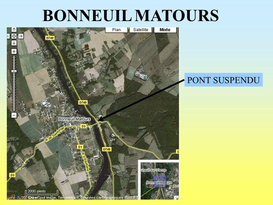 BONNEUIL MATOURS PONT SUSPENDU