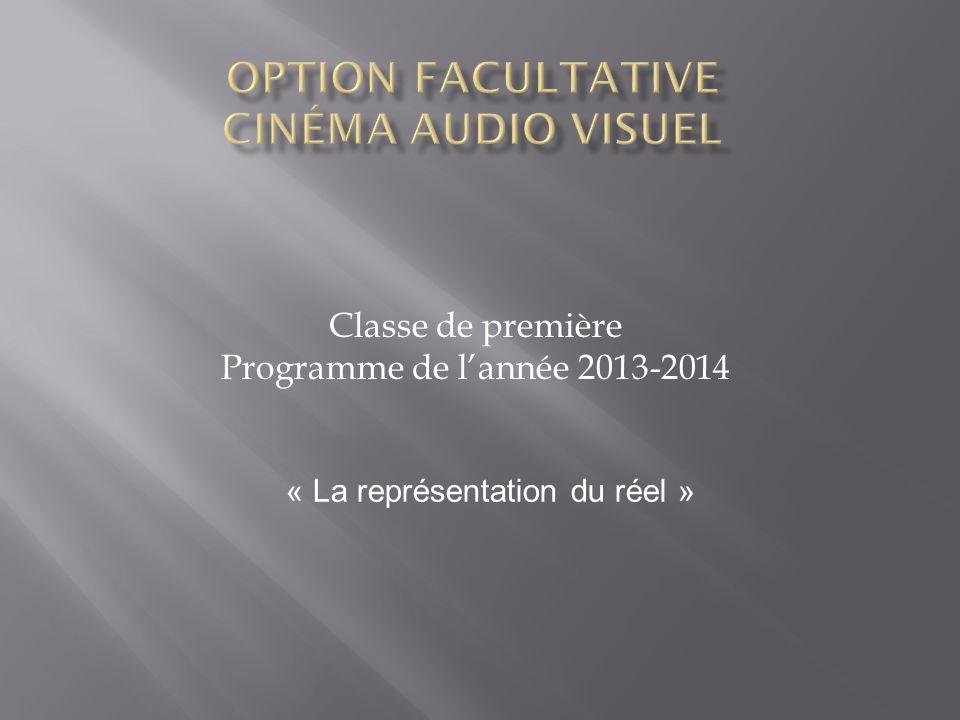Option facultative Cinéma audio visuel