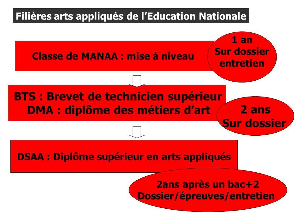 DMA : diplôme des métiers d'art 2 ans