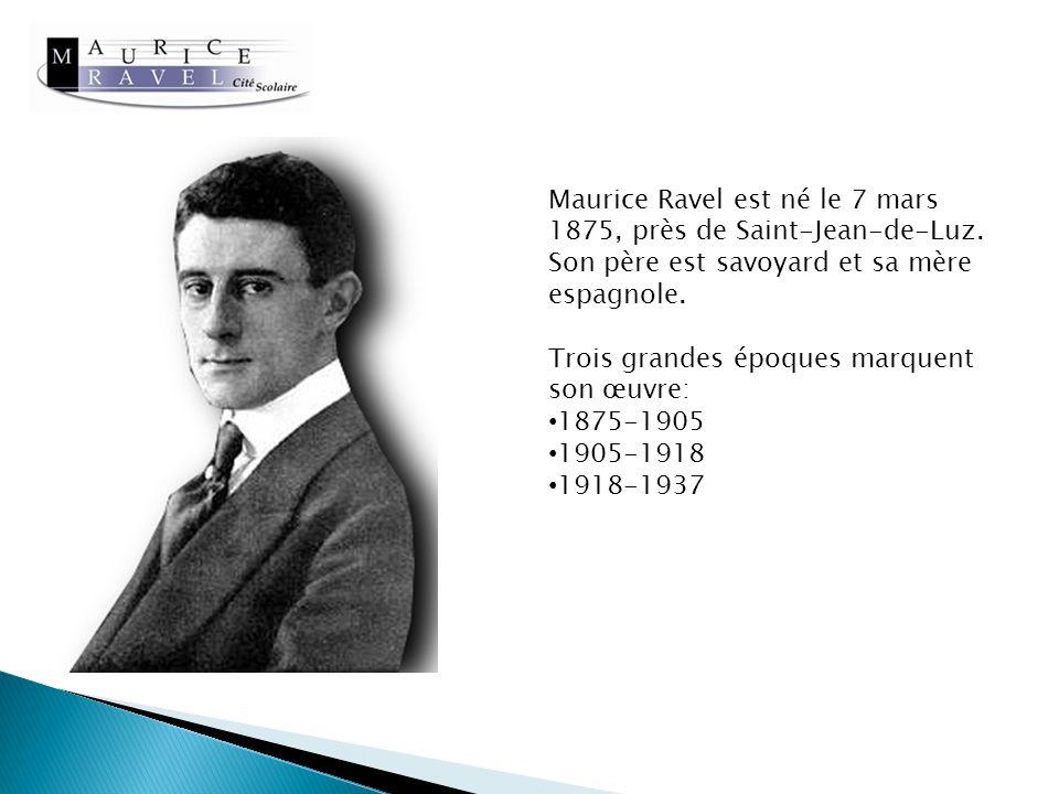 Maurice Ravel est né le 7 mars 1875, près de Saint-Jean-de-Luz.