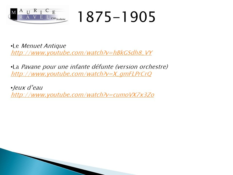 1875-1905 Le Menuet Antique http://www.youtube.com/watch v=hBkGSdh8_VY