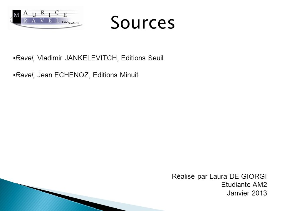 Sources Ravel, Vladimir JANKELEVITCH, Editions Seuil