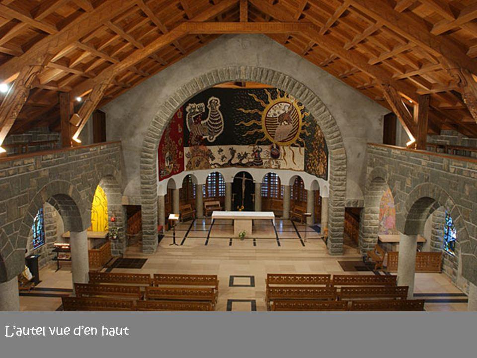 L'autel vue d'en haut