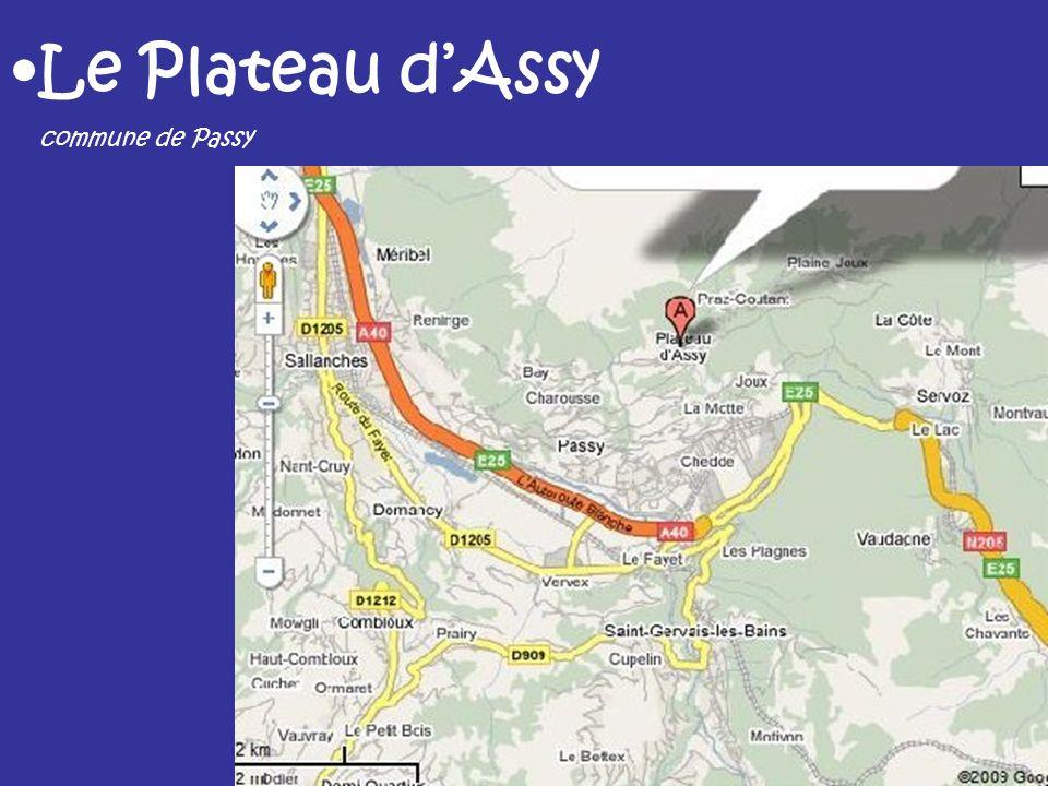 Le Plateau d'Assy commune de Passy
