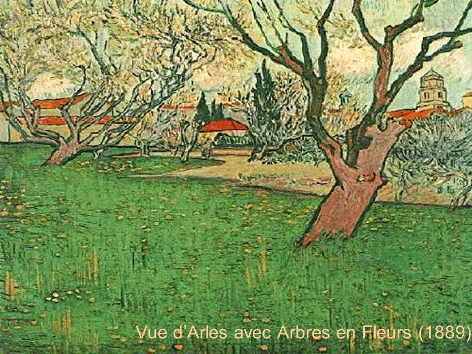 Vue d'Arles avec Arbres en Fleurs (1889)