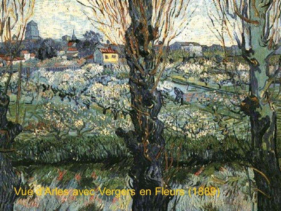Vue d'Arles avec Vergers en Fleurs (1889)