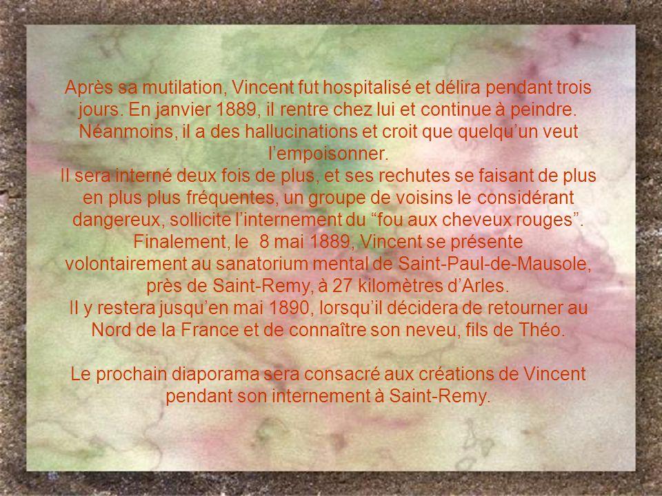Finalement, le 8 mai 1889, Vincent se présente