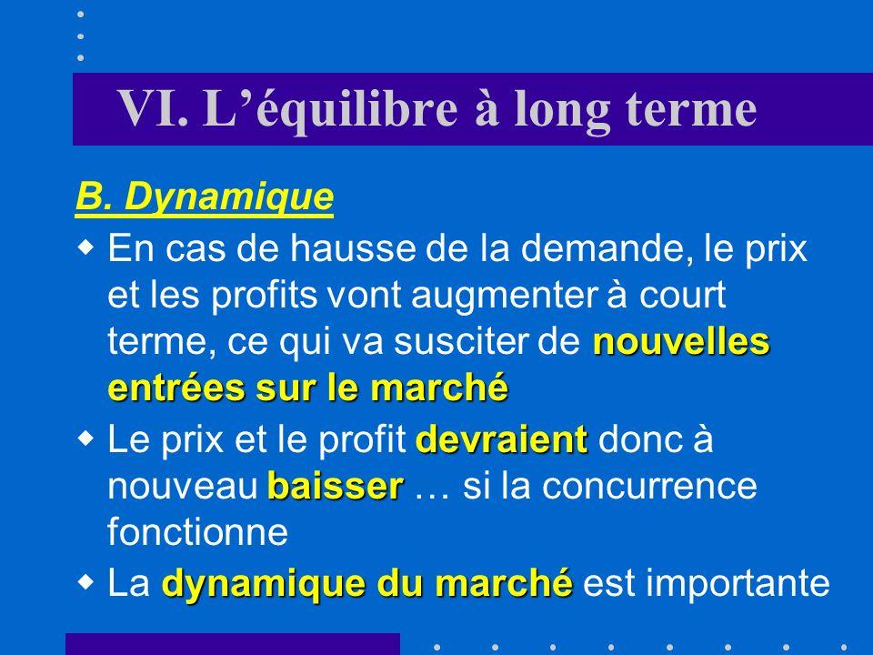 VI. L'équilibre à long terme