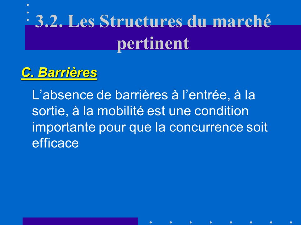 3.2. Les Structures du marché pertinent