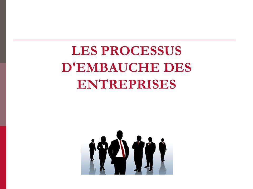 les processus d embauche des entreprises