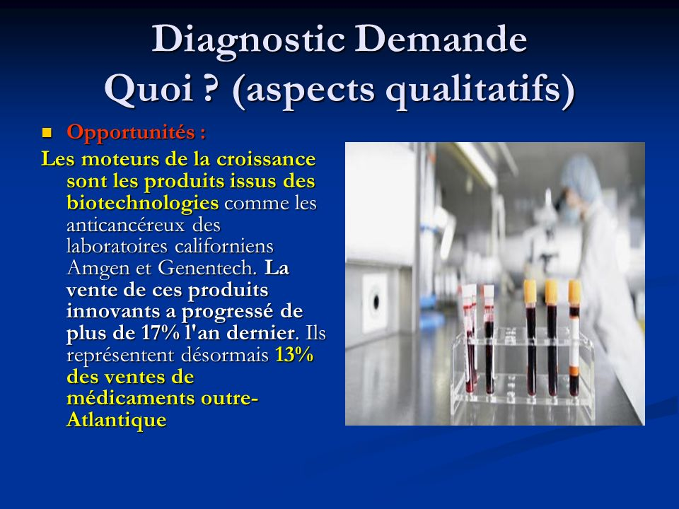 Diagnostic Demande Quoi (aspects qualitatifs)