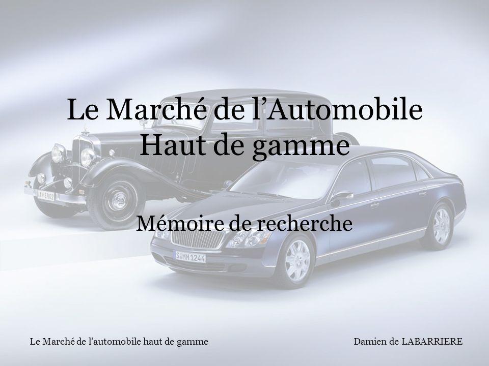 Le Marché de l'Automobile Haut de gamme