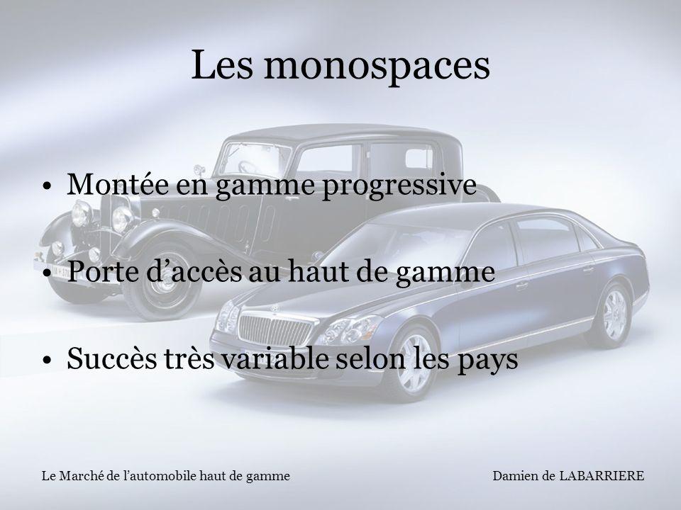 Les monospaces Montée en gamme progressive
