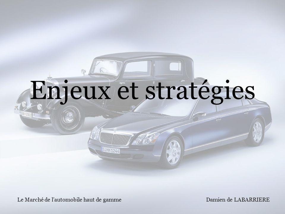 Enjeux et stratégies Le Marché de l'automobile haut de gamme