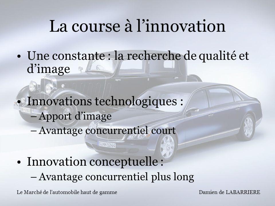 La course à l'innovation