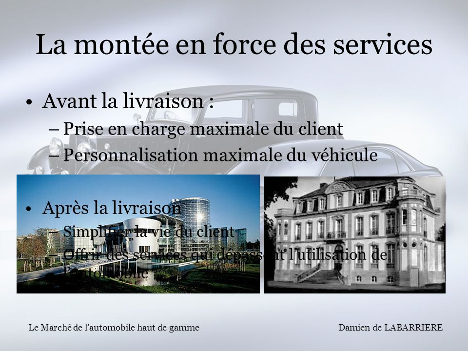 La montée en force des services