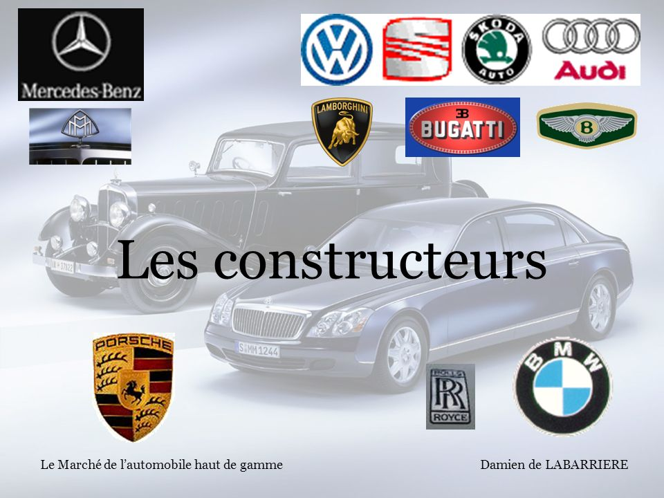 Les constructeurs Le Marché de l'automobile haut de gamme