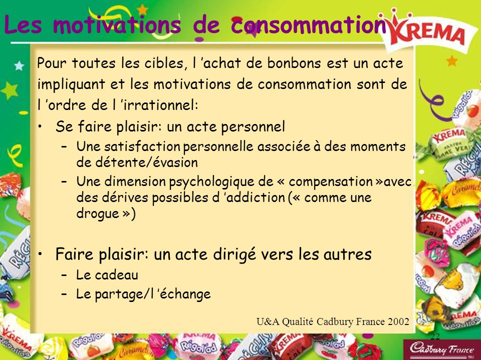 Les motivations de consommation