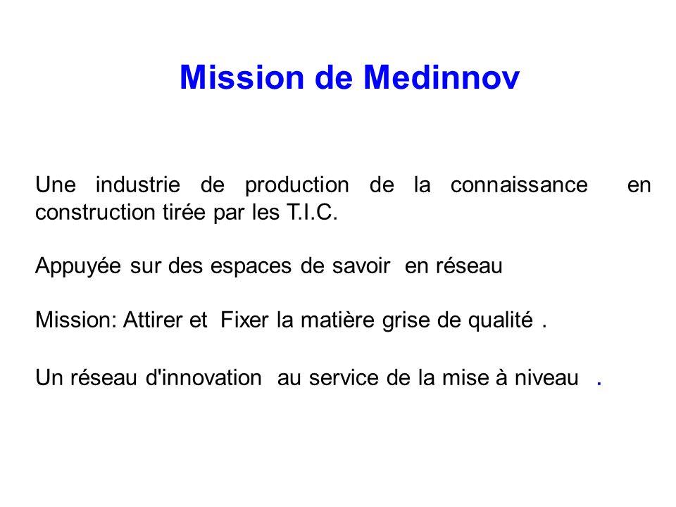 Mission de Medinnov Une industrie de production de la connaissance en construction tirée par les T.I.C.