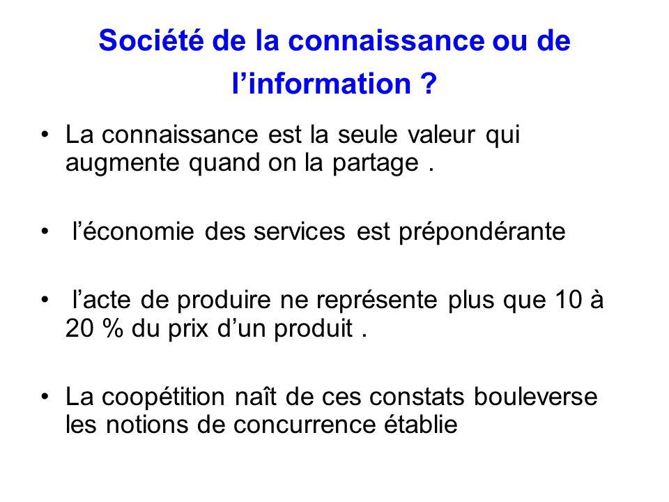 Société de la connaissance ou de l'information