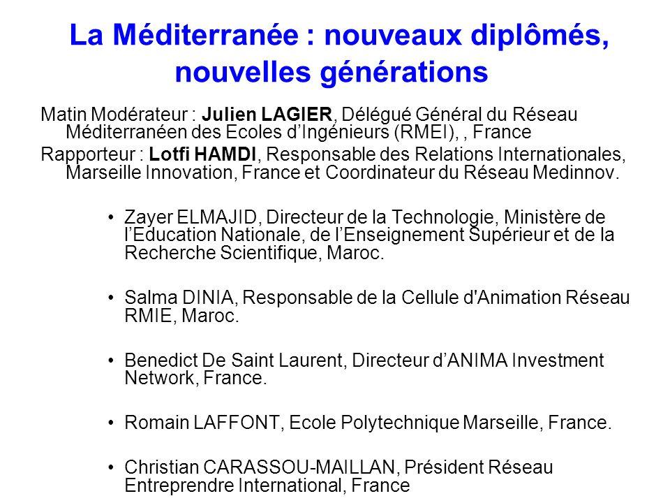 La Méditerranée : nouveaux diplômés, nouvelles générations