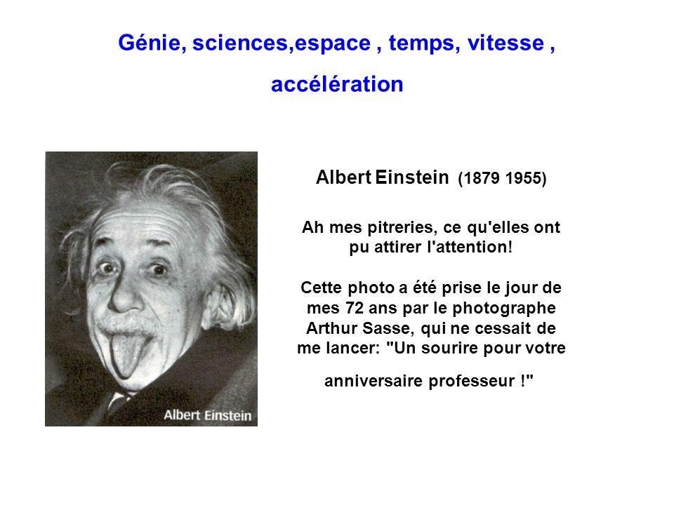 Génie, sciences,espace , temps, vitesse , accélération