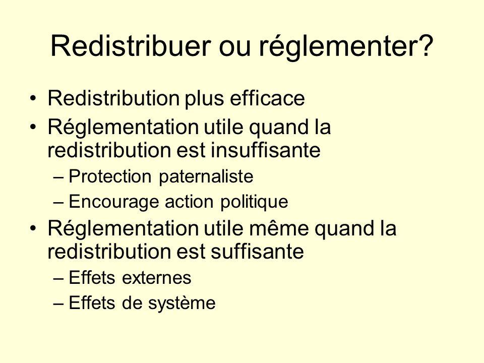 Redistribuer ou réglementer