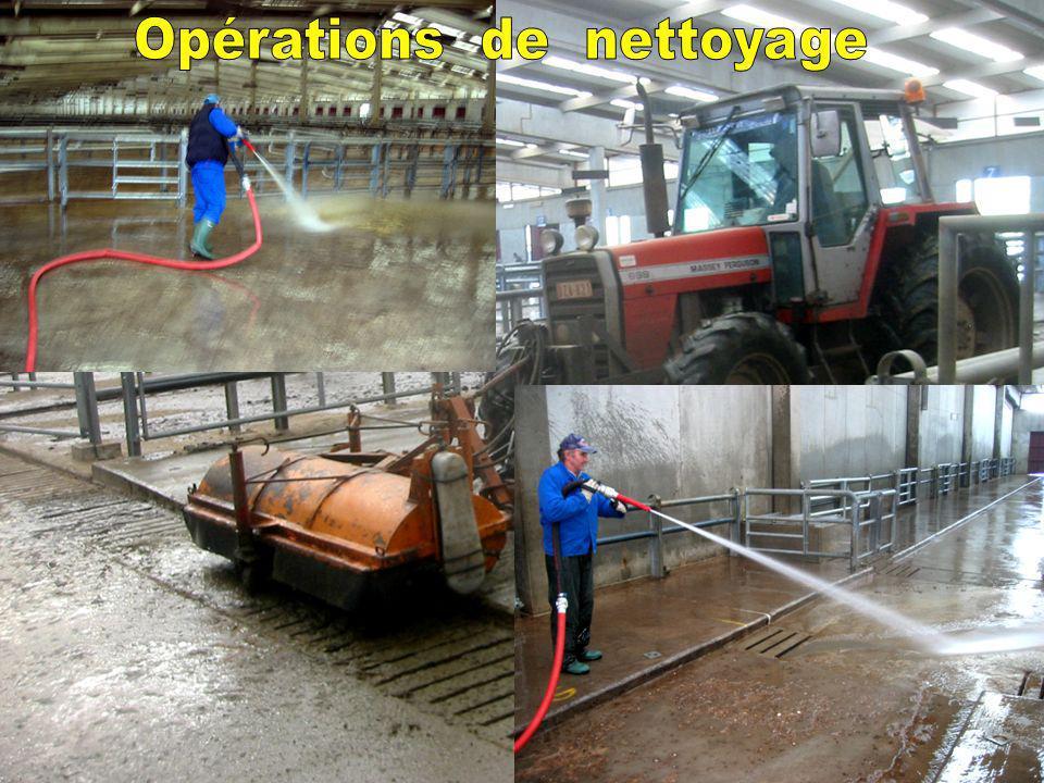 Opérations de nettoyage