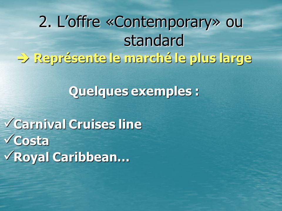 2. L'offre «Contemporary» ou standard