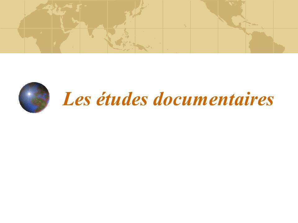 Les études documentaires
