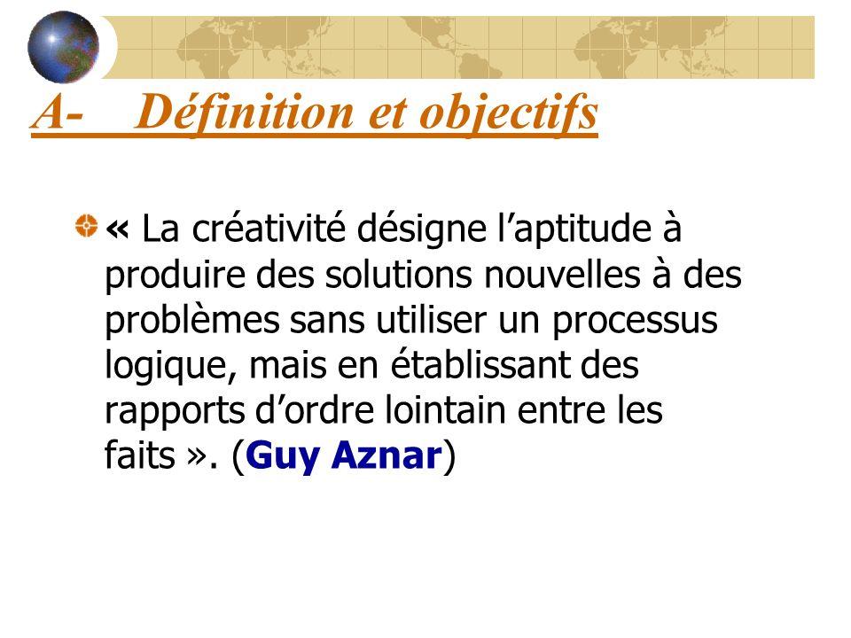 A- Définition et objectifs