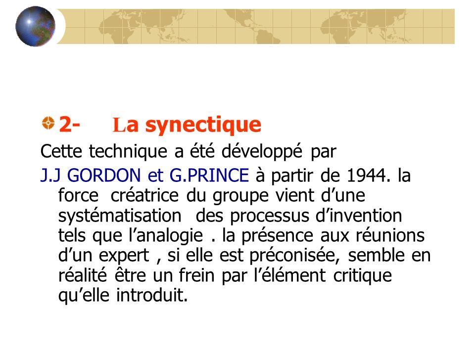 2- La synectique Cette technique a été développé par