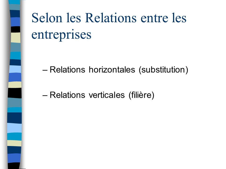 Selon les Relations entre les entreprises