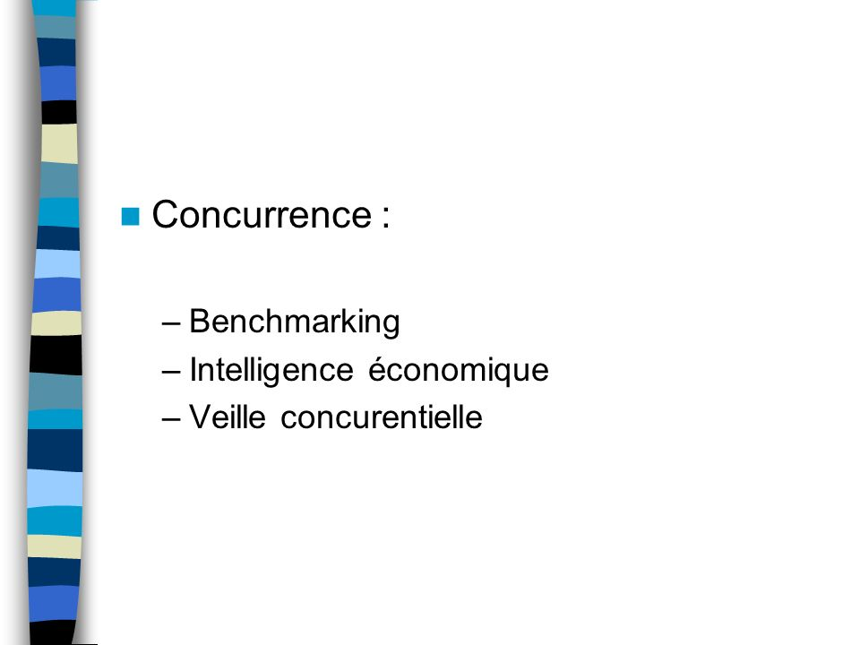 Concurrence : Benchmarking Intelligence économique