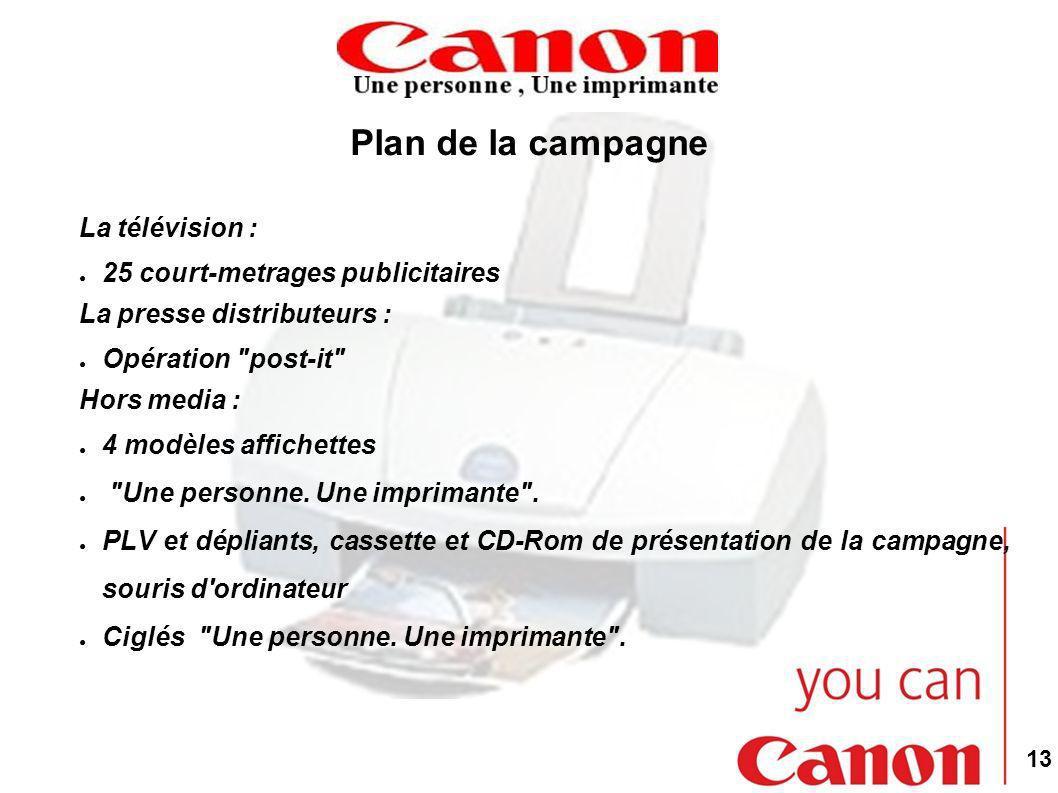 Plan de la campagne La télévision : 25 court-metrages publicitaires