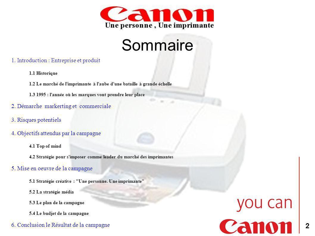 Sommaire 1. Introduction : Entreprise et produit