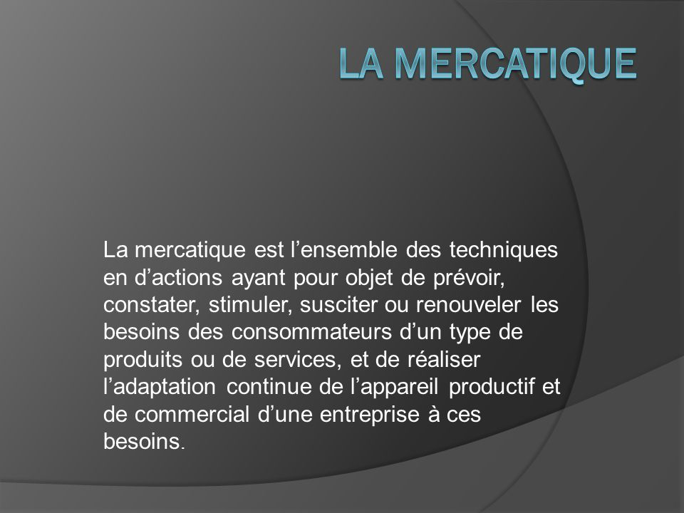 La mercatique