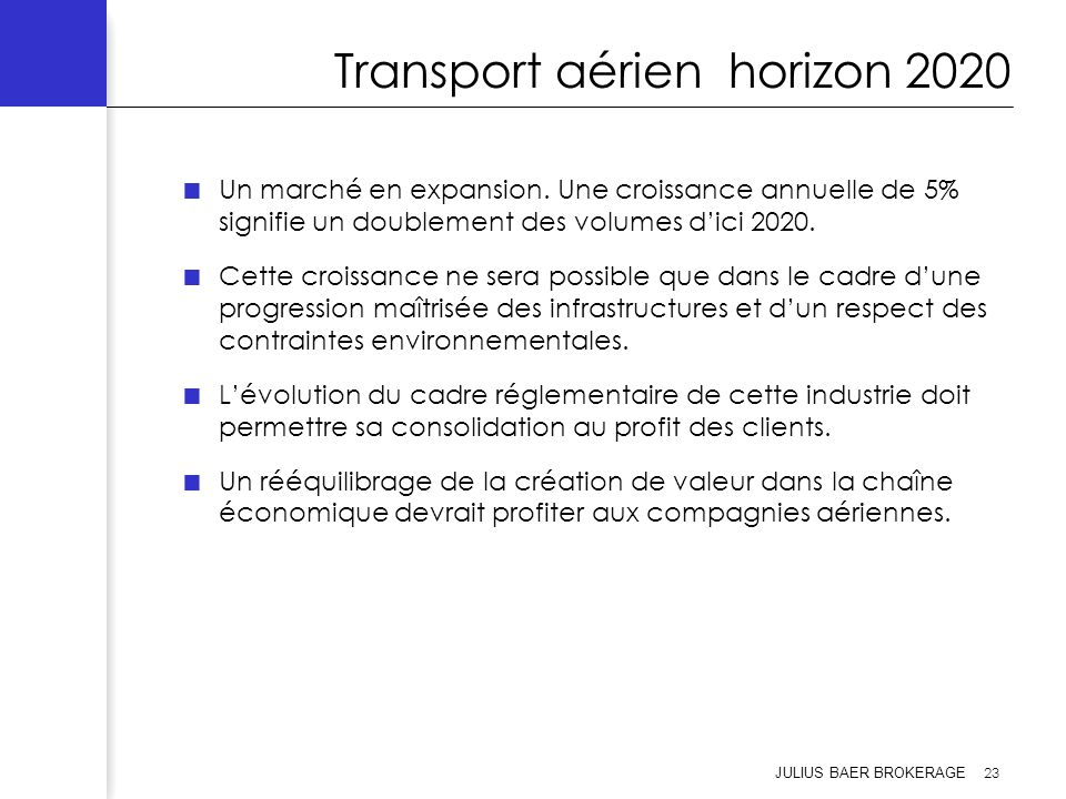 Transport aérien horizon 2020