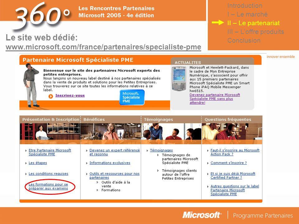 IntroductionI – Le marché. II – Le partenariat. III – L'offre produits. Conclusion.