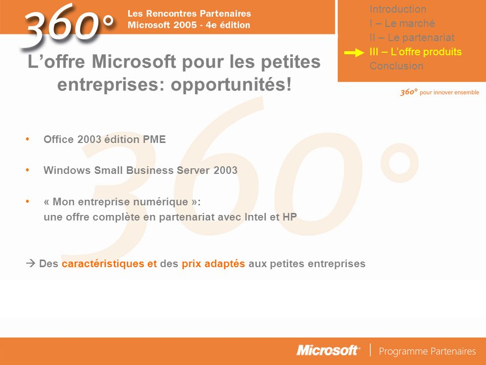 L'offre Microsoft pour les petites entreprises: opportunités!