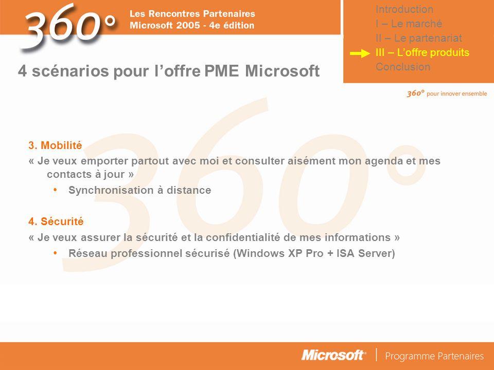 4 scénarios pour l'offre PME Microsoft