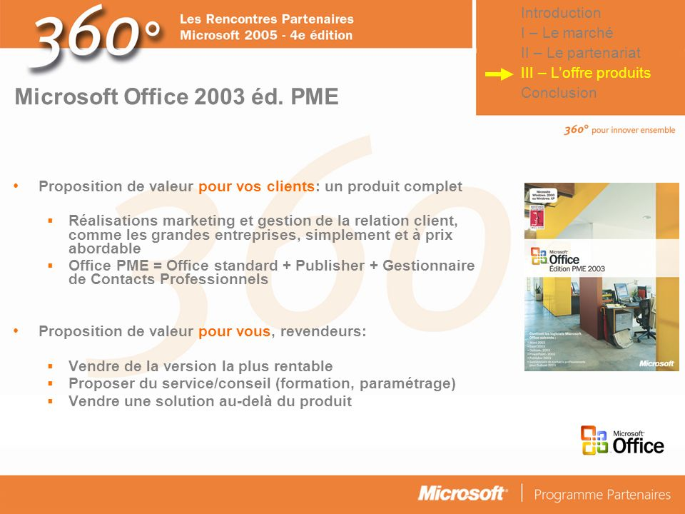 Microsoft Office 2003 éd. PME